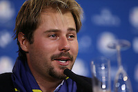 Victor Dubuisson (EUR) at  the final European Team Press Conference after Sunday's Singles at the 2014 Ryder Cup from Gleneagles, Perthshire, Scotland. Picture:  David Lloyd / www.golffile.ie