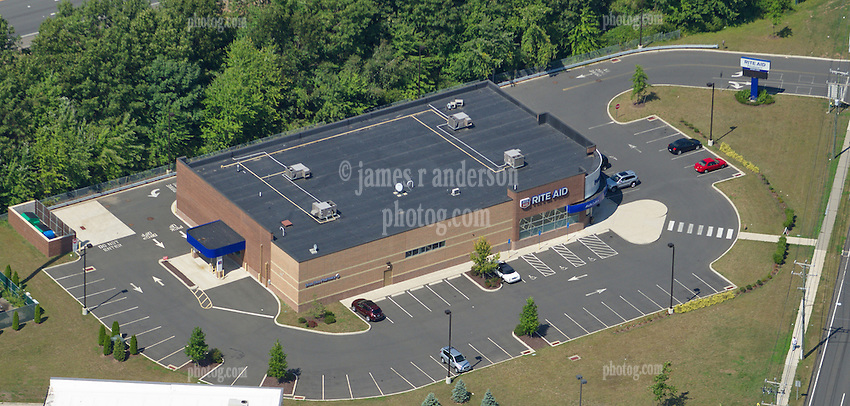 Aerial Photograph of Rite Aid Pharmacy, Southington, CT and it's surroundings   3 September 2012