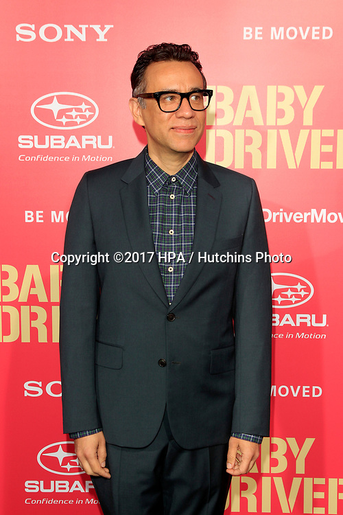 "LOS ANGELES - JUN 14:  Fred Armison at the ""Baby Driver"" Premiere at the The Theater at Ace Hotel on June 14, 2017 in Los Angeles, CA"