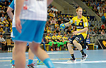GER - Mannheim, Germany, September 23: During the DKB Handball Bundesliga match between Rhein-Neckar Loewen (yellow) and TVB 1898 Stuttgart (white) on September 23, 2015 at SAP Arena in Mannheim, Germany. Final score 31-20 (19-8) . (Photo by Dirk Markgraf / www.265-images.com) *** Local caption *** Stefan Kneer #4 of Rhein-Neckar Loewen