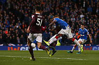 3rd November 2019; Hampden Park, Glasgow, Scotland; Scottish League Cup Football, Rangers versus Heart of Midlothian; Alfredo Morelos of Rangers scores and makes it 3-0 to Rangers in the 62nd minute