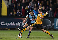 Luke O'Nien of Wycombe Wanderers & Luke Berry of Cambridge United in action during the Sky Bet League 2 match between Cambridge United and Wycombe Wanderers at the R Costings Abbey Stadium, Cambridge, England on 1 March 2016. Photo by Andy Rowland / PRiME Media Images.
