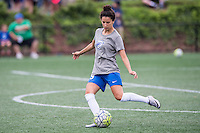 Allston, MA - Sunday July 31, 2016: Ghoutia Karchouni prior to a regular season National Women's Soccer League (NWSL) match between the Boston Breakers and the Orlando Pride at Jordan Field.