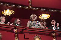 2016 Kennedy Center Honoree singer Mavis Staples waves at the beginning of the Kennedy Center Honors, at the Kennedy Center, December 4, 2016.  The 2016 honorees are: Argentine pianist Martha Argerich; rock band the Eagles; screen and stage actor Al Pacino; gospel and blues singer Mavis Staples; and musician James Taylor. Photo Credit: Aude Guerrucci/CNP/AdMedia