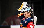 ***BETALBILD***  <br /> Stockholm 2015-09-04 Ishockey CHL Djurg&aring;rdens IF - EV Zug :  <br /> Djurg&aring;rdens m&aring;lvakt goalkeeper Mantas Armalis under matchen mellan Djurg&aring;rdens IF och EV Zug <br /> (Foto: Kenta J&ouml;nsson) Nyckelord:  Ishockey Hockey CHL Hovet Johanneshovs Isstadion Djurg&aring;rden DIF Zug portr&auml;tt portrait