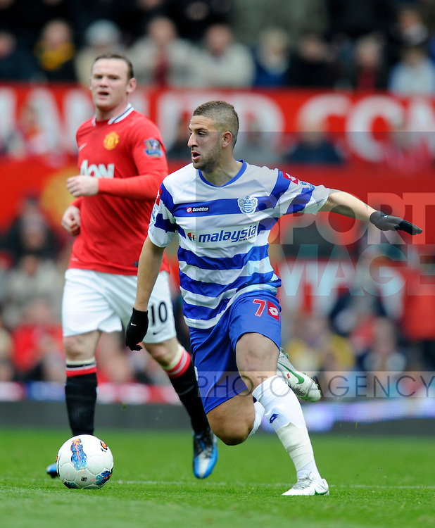 Adel Taarabat of QPR.Barclays Premier League match between Manchester Utd v QPR at Old Trafford Stadium, Manchester on the 8th April 2012..Sportimage +44 7980659747.picturedesk@sportimage.co.uk.http://www.sportimage.co.uk/.