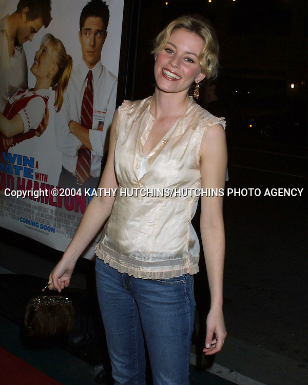 "© 2004 KATHY HUTCHINS/HUTCHINS PHOTO.""WIN A DATE WITH TED HAMILTON"" PREMIERE.WESTWOOD, CA.JANUARY 9, 2004..ELIZABETH BANKS"