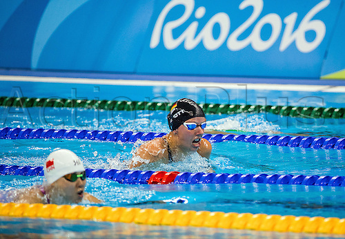 11.09.2016. Rio de Janeiro, Brazil.  Verena Schott of Germany competes behind the winner Thi Bich Nhu Trinh of Vietnam in swimming Women's 100m Breaststroke - SB5 Final - during the Rio 2016 Paralympic Games, Rio de Janeiro, Brazil, 11 September 2016. Schott wins silver medal.