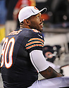 JULIUS PEPPERS (90), of the Chicago Bears, in action during the Bears preseason game against the Denver Broncos on August 9, 2012 at Soldier Field in Chicago, IL. The Broncos beat the Bears 31-3.