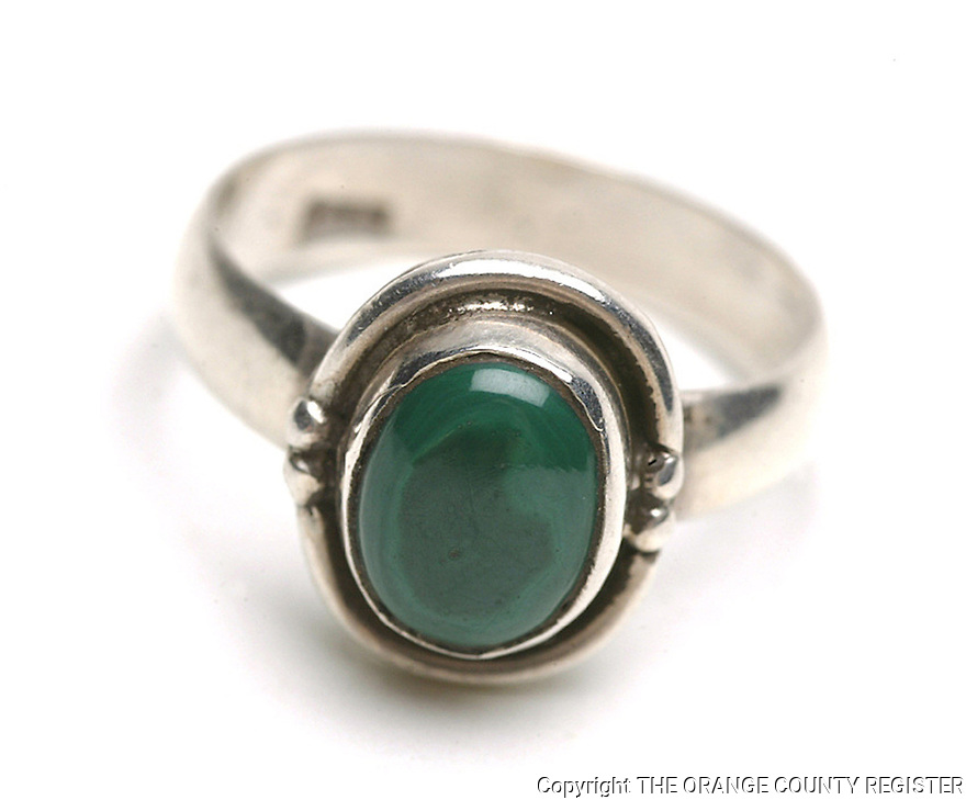 Silver and Jade Ring - Portfolio only.