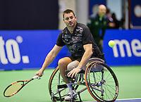 Rotterdam, Netherlands, December 17, 2015,  Topsport Centrum, Lotto NK Tennis, Whelchair semifinal men: Ricky Mllier (NED)<br /> Photo: Tennisimages/Henk Koster