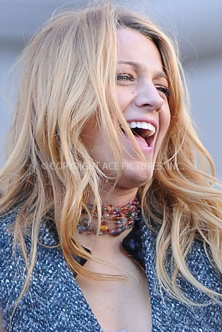 WWW.ACEPIXS.COM . . . . . .October 11, 2012, New York City....Blake Lively on the set of Gossip Girl on October 11, 2012 in New York City....Please byline: KRISTIN CALLAHAN - ACEPIXS.COM.. . . . . . ..Ace Pictures, Inc: ..tel: (212) 243 8787 or (646) 769 0430..e-mail: info@acepixs.com..web: http://www.acepixs.com .