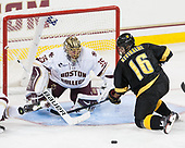Ryan Edquist (BC - 35), Teemu Kivihalme (CC - 16) - The Boston College Eagles defeated the visiting Colorado College Tigers 4-1 on Friday, October 21, 2016, at Kelley Rink in Conte Forum in Chestnut Hill, Massachusetts.The Boston College Eagles defeated the visiting Colorado College Tiger 4-1 on Friday, October 21, 2016, at Kelley Rink in Conte Forum in Chestnut Hill, Massachusett.
