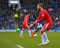 Scott Wagstaff of Gillingham appeals to the linesman for handball during Portsmouth vs Gillingham, Sky Bet EFL League 1 Football at Fratton Park on 10th March 2018