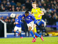 4th March 2020; King Power Stadium, Leicester, Midlands, England; English FA Cup Football, Leicester City versus Birmingham City; Kelechi Iheanacho of Leicester City beats Kristian Pedersen of Birmingham City to a through ball