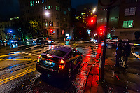 Rainy evening, Powell Street, San Francisco, California USA