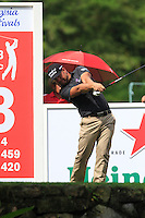 Ryan Moore (USA) on the 13th tee during Round 3 of the CIMB Classic in the Kuala Lumpur Golf & Country Club on Saturday 1st November 2014.<br /> Picture:  Thos Caffrey / www.golffile.ie