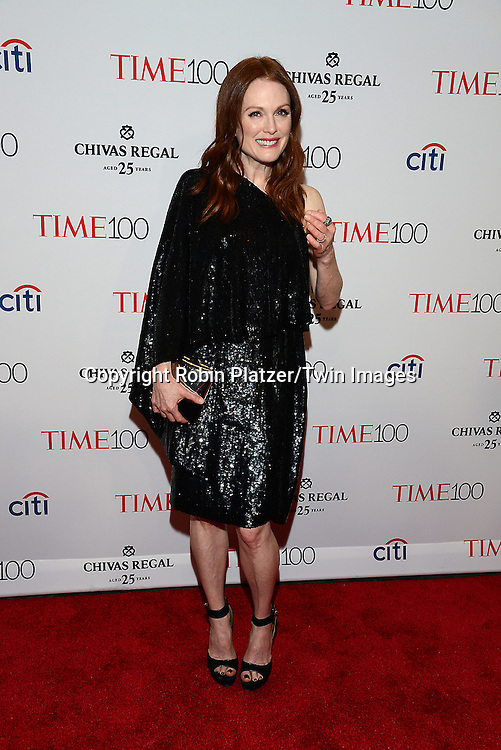 Julianne Moore attends the TIME 100 Issue celebrating the 100 Most Influential People in the World on April 21, 2015 <br /> at Frederick P Rose Hall at Lincoln Center in New York City, New York, USA.<br /> <br /> photo by Robin Platzer/Twin Images<br />  <br /> phone number 212-935-0770