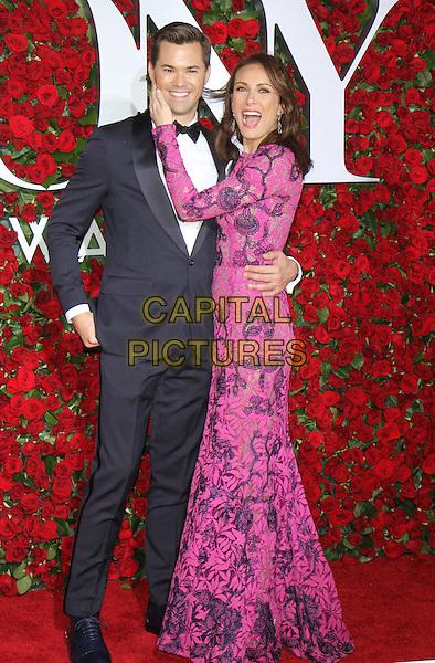 NEW YORK, NY-June 12: Andrew Rannells, Laura Benanti  at the 70th Annual Tony Awards at the Beacon Theatre in New York. NY June 12, 2016. <br /> CAP/MPI/RW<br /> &copy;RW/MPI/Capital Pictures