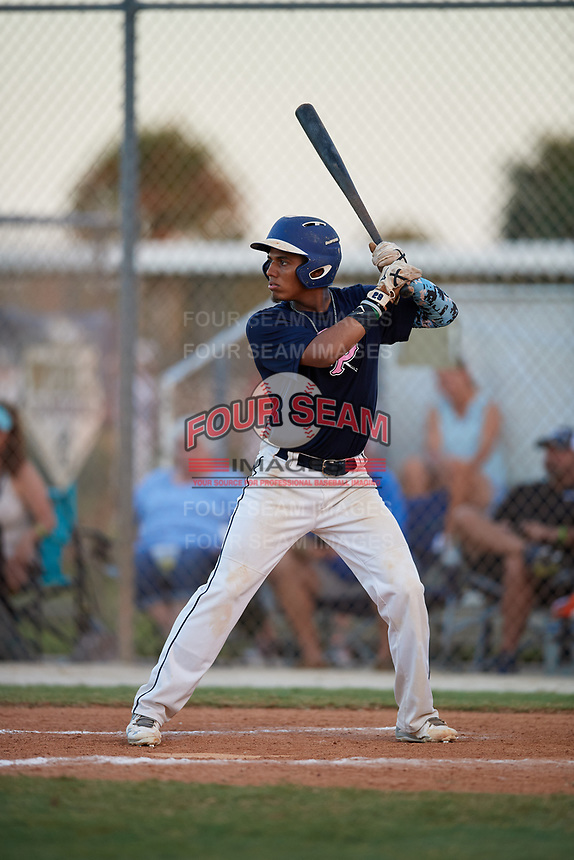 Marcos Sevillano during the WWBA World Championship at the Roger Dean Complex on October 20, 2018 in Jupiter, Florida.  Marcos Sevillano is a third baseman from Jacksonville, Florida who attends Mandarin High School.  (Mike Janes/Four Seam Images)