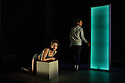 Edinburgh, UK. 07.08.2015. Traverse Theatre Company presents SWALLOW, by Stef Smith, as part of the Edinburgh Festival Fringe. Directed by Orla O'Loughlin, designed by Fred Meller, with lighting design by Philip Gladwell. Picture shows: Emily Watcher and Anita Vettesse. Photograph © Jane Hobson.