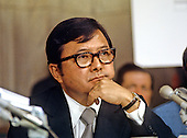United States Senator Daniel K. Inouye (Democrat of Hawaii) listens to testimony before the Senate Watergate Committee during the Summer of 1973.  Senator Inouye passed away due to respiratory complications at Walter Reed National Military Medical Center in Bethesda on Monday, December 17, 2012. He was 88..Credit: Arnie Sachs / CNP