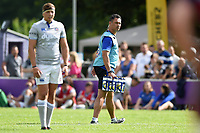Bath Rugby Head Coach Tabai Matson runs water on. Pre-season friendly match, between Bristol Rugby and Bath Rugby on August 12, 2017 at the Cribbs Causeway Ground in Bristol, England. Photo by: Patrick Khachfe / Onside Images