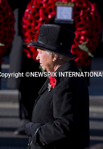 """QUEEN ATTENDS REMEMBRANCE SERVICE.Kate's attended her 1st Remembrance Service with members of the Royal Family at the Cenotaph, London_13th November 2011.©FRANCIS DIAS - NEWSPIX INTERNATIONAL..Mandatory credit photo:NEWSPIX INTERNATIONAL(Failure to credit will incur a surcharge of 100% of reproduction fees)..**ALL FEES PAYABLE TO: """"NEWSPIX  INTERNATIONAL""""**..Newspix International, 31 Chinnery Hill, Bishop's Stortford, ENGLAND CM23 3PS.Tel:+441279 324672.Fax: +441279656877.Mobile:  07775681153.e-mail: info@newspixinternational.co.uk"""