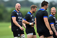 Matt Garvey of Bath Rugby looks on. Bath Rugby pre-season training session on July 28, 2017 at Farleigh House in Bath, England. Photo by: Patrick Khachfe / Onside Images