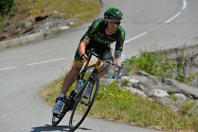 Pierre Rolland (FRA) Team Europcar in action during Stage 20 of the 2015 Tour de France running 110.5km from Modane Valfrejus to Alpe d'Huez, France. 25th July 2015.<br /> Photo: ASO/B.Bade/Newsfile