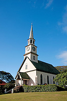 A view of the old Kaahumanu Church, Wailuku, Maui, Hawaii.