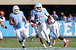 24 October 2015: UNC's Marquise Williams (12). The University of North Carolina Tar Heels hosted the University of Virginia Cavaliers at Kenan Memorial Stadium in Chapel Hill, North Carolina in a 2015 NCAA Division I College Football game. UNC won the game 26-13.