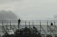CURITIBA, PR, 23 DE OUTUBRO DE 2012 – ATLÉTICO-PR X GUARANI – Espaço reservado para a torcida do Guarani na partida contra o Atlético-PR válida pela 32ª rodada da Série B do Campeonato Brasileiro 2012. O jogo aconteceu debaixo de chuva na tarde de terça (23), no Estádio Janguito Malucelli, o EcoEstádio, em Curitiba. (FOTO: ROBERTO DZIURA JR./ BRAZIL PHOTO PRESS)