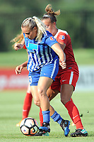 Boyds, MD - Saturday August 12, 2017: Adriana Leon, Mallory Pugh during a regular season National Women's Soccer League (NWSL) match between the Washington Spirit and The Boston Breakers at Maureen Hendricks Field, Maryland SoccerPlex.