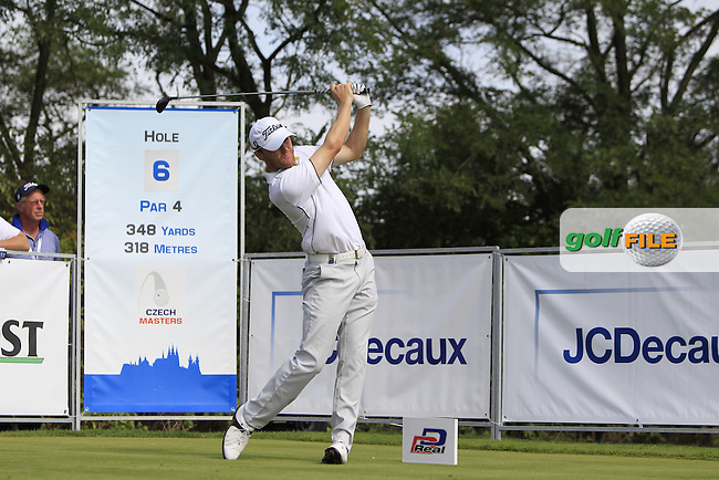 Michael Hoey (NIR) on the 6th tee during Round 1 of the D+D Real Czech Masters at the Albatross Golf Resort on Thursday 27th August 2015.<br /> Picture:  Thos Caffrey / www.golffile.ie