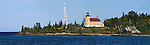 The Historic Copper Harbor Lighthouse On Lake Superior, Michigan's Upper Peninsula, Panoramic View