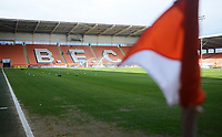 A general view of Bloomfield Road, home of Blackpool FC<br /> <br /> Photographer Kevin Barnes/CameraSport<br /> <br /> The EFL Sky Bet League One - Blackpool v Gillingham - Saturday 4th May 2019 - Bloomfield Road - Blackpool<br /> <br /> World Copyright © 2019 CameraSport. All rights reserved. 43 Linden Ave. Countesthorpe. Leicester. England. LE8 5PG - Tel: +44 (0) 116 277 4147 - admin@camerasport.com - www.camerasport.com