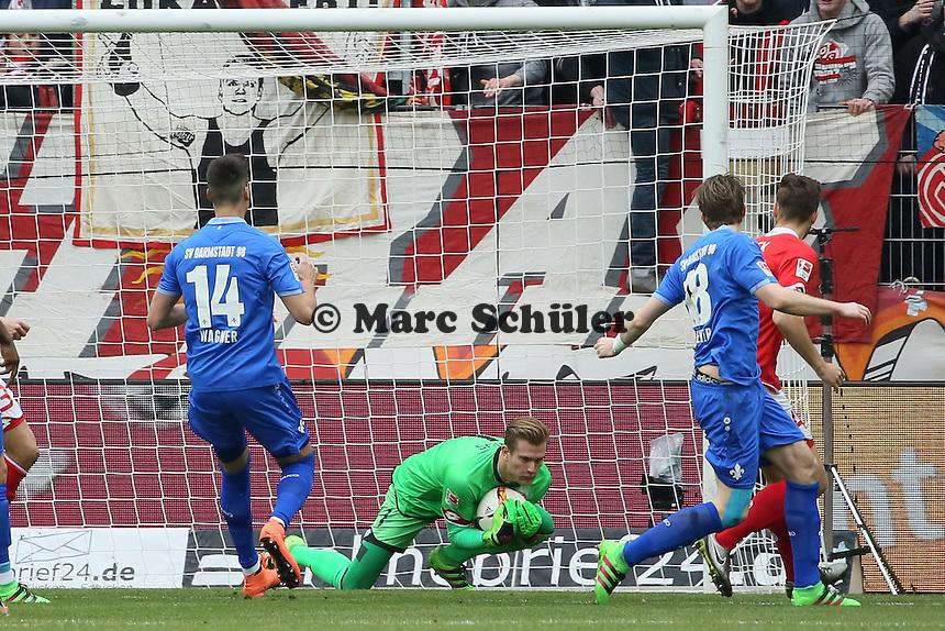 Loris Karius (Mainz) hält - 1. FSV Mainz 05 vs. SV Darmstadt 98, Coface Arena