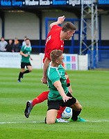 Lincoln City's Jacob Fenton vies for possession with Gainsborough Trinity's Charlie Garter<br /> <br /> Photographer Andrew Vaughan/CameraSport<br /> <br /> The Premier League - Burnley v West Ham United - Sunday 21st May 2017 - Turf Moor - Burnley<br /> <br /> World Copyright &copy; 2017 CameraSport. All rights reserved. 43 Linden Ave. Countesthorpe. Leicester. England. LE8 5PG - Tel: +44 (0) 116 277 4147 - admin@camerasport.com - www.camerasport.com