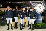 Riders at the Longines Grand Prix during the Longines Masters of Hong Kong at AsiaWorld-Expo on 11 February 2018, in Hong Kong, Hong Kong. Photo by Diego Gonzalez / Power Sport Images