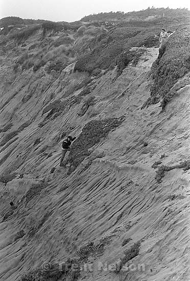 rescue of climber on cliff at Fort Funston.<br />