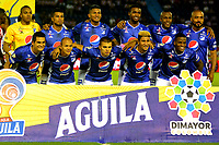 BARRANQUILLA-COLOMBIA, 19-10-2019: Jugadores de Millonarios, posan para una foto, antes de partido entre Atlético Junior y Millonarios, de la fecha 18 por la Liga Águila II 2019, jugado en el estadio Metropolitano Roberto Meléndez de la ciudad de Barranquilla. / Players of Millonarios, pose for a photo, prior a match between Atletico Junior and Millonarios, of the 18th date for the Aguila Leguaje I 2019 played at the Metropolitano Roberto Melendez Stadium in Barranquilla city, Photo: VizzorImage / Alfonso Cervantes / Cont.