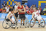 November 18 2011 - Guadalajara, Mexico:   Janet Margaret McLachlan of Team Canada while taking on Team USA in the Gold Medal Game in the CODE Alcalde Sports Complex at the 2011 Parapan American Games in Guadalajara, Mexico.  Photos: Matthew Murnaghan/Canadian Paralympic Committee