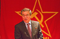 Ambassador to UK His Excellency Mr. Hyon Hak Bong of the Democratic People's Republic of Korea in Southall attending a Saklatvala Hall Kim Il-sung birth Commemoration and speaking of the present Korean Crisis whipped up by US Imperialism 14th April 2013