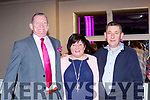 Dermot O'Sullivan, Breda O'Donoghue, and Diarmuid O'Sullivan, Headford at the Killarney Strictly Come Dancing in aid of the Irish Cancer Society in the INEC on Friday night
