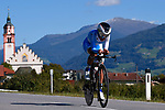 Fernanda Yapura (ARG) in action during the Elite Women Individual Time Trial of the 2018 UCI Road World Championships running 27.8km from Wattens to Innsbruck, Innsbruck-Tirol, Austria 2018. 25th September 2018.<br /> Picture: Innsbruck-Tirol 2018/Dario Belingheri | Cyclefile<br /> <br /> <br /> All photos usage must carry mandatory copyright credit (&copy; Cyclefile | Innsbruck-Tirol 2018/Dario Belingheri)