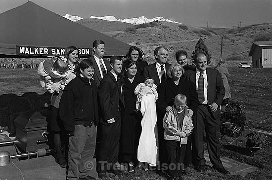 Jan and Carole Jensen family.  at Betty Rae Watts funeral.<br />