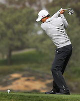 27 AN 13  Korean American rookie James Hahn during Sunday's Third Round action  at The Farmers Insurance Open at Torrey Pines Golf Course in La Jolla, California. (photo:  kenneth e.dennis / kendennisphoto.com)