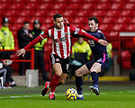 Billy Sharp of Sheffield Utd and Adam Smith of Bournemouthduring the Premier League match at Bramall Lane, Sheffield. Picture date: 9th February 2020. Picture credit should read: Simon Bellis/Sportimage