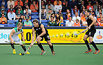 The Hague, Netherlands, June 03: Taine Paton #30 of South Africa defends against Steven Edwards #31 of New Zealand during the field hockey group match (Men - Group B) between South Africa and the Black Sticks of New Zealand on June 3, 2014 during the World Cup 2014 at GreenFields Stadium in The Hague, Netherlands. Final score 0:5 (0:3) (Photo by Dirk Markgraf / www.265-images.com) *** Local caption ***